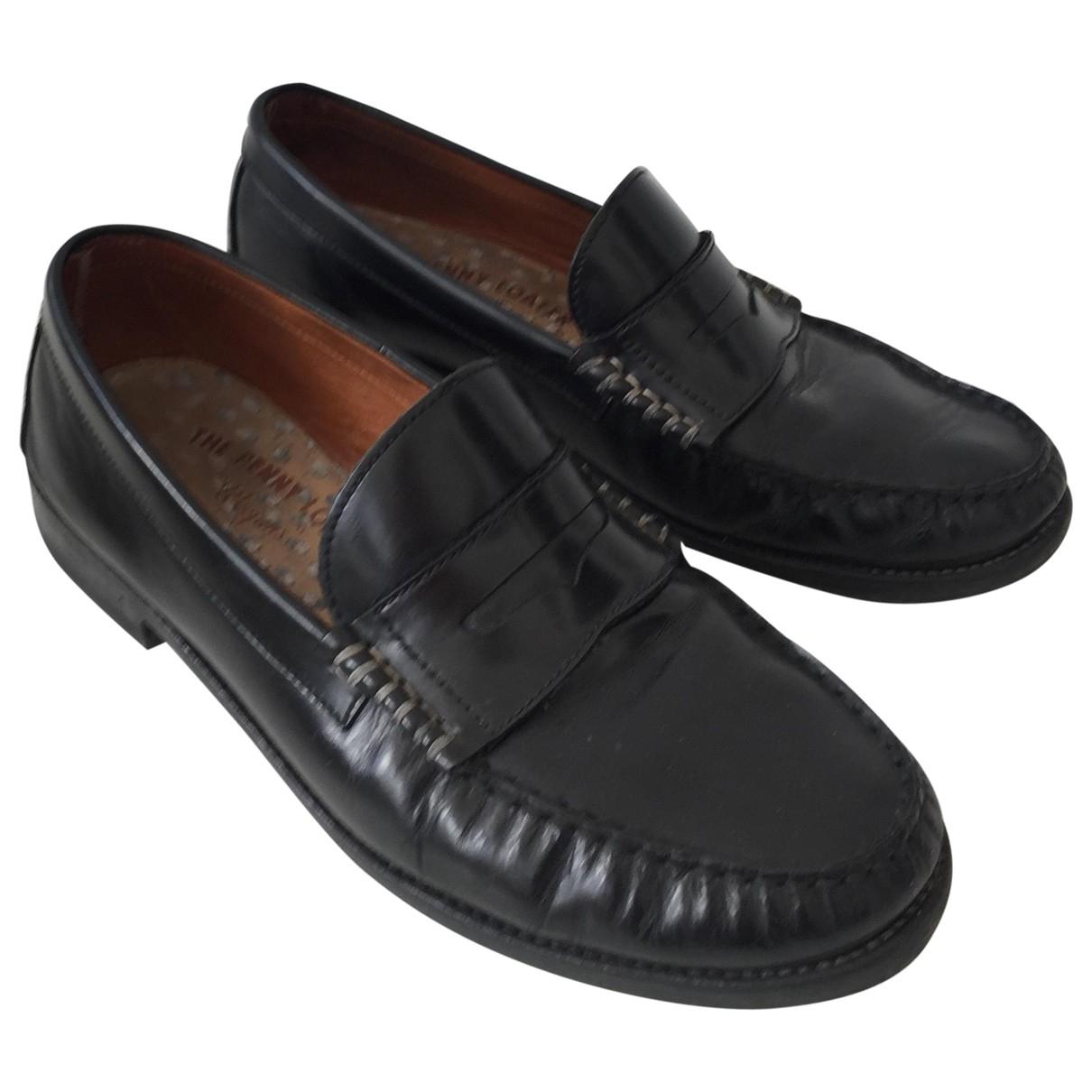 Tommy Hilfiger \N Black Leather Flats for Men 44 EU