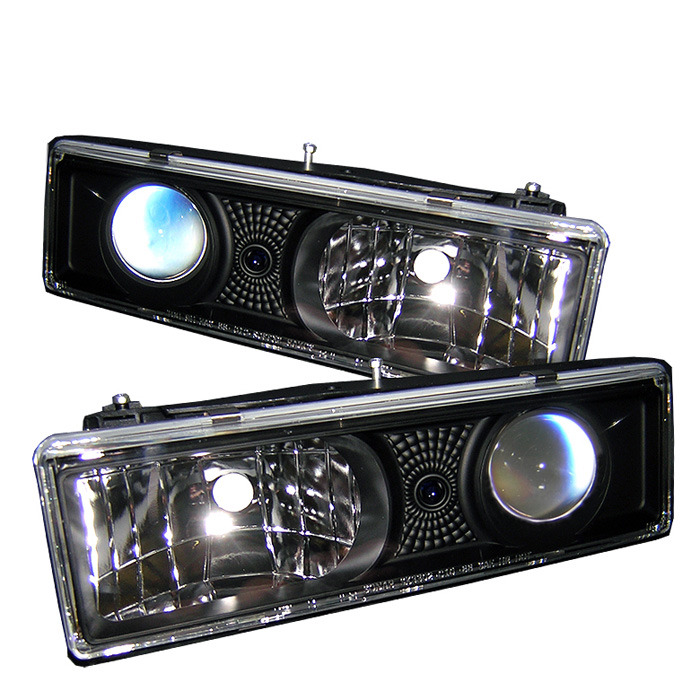 Spyder Auto PRO-YD-CCK88-BK Black Projector Headlights GMC Yukon with Replaceable City Lights 92-99