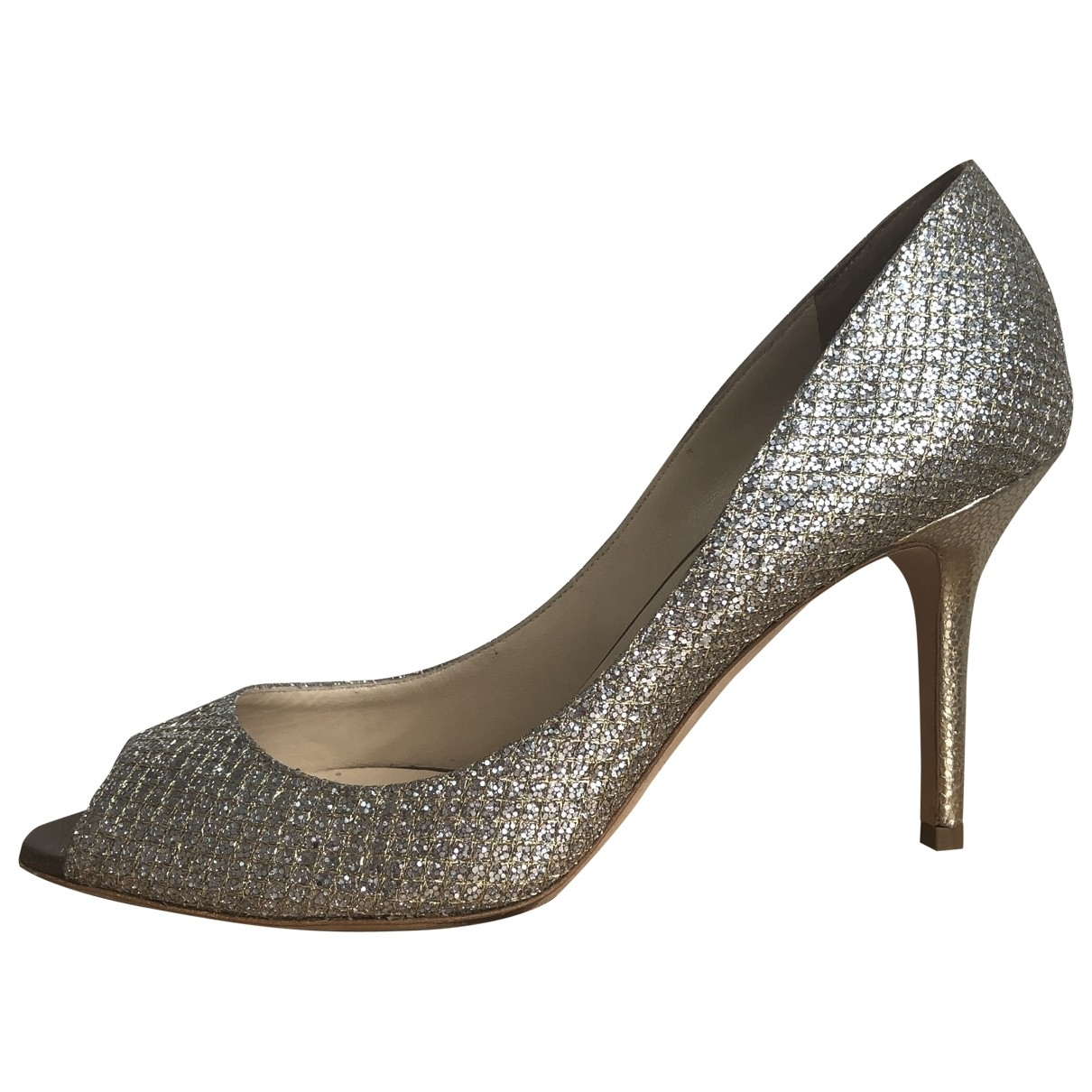 Jimmy Choo \N Pumps in  Gold Mit Pailletten