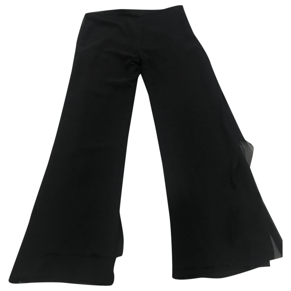 Non Signé / Unsigned \N Black Trousers for Women 42 FR