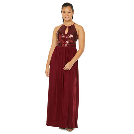 Morgan & Co. Sleeveless A-Line Dress-Juniors, 7 , Red
