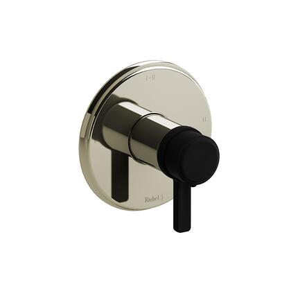 Momenti MMRD23JPNBK-EX 2-Way Thermostatic/Pressure Balance Coaxial Complete Valve with J Lever Handles  in Polished