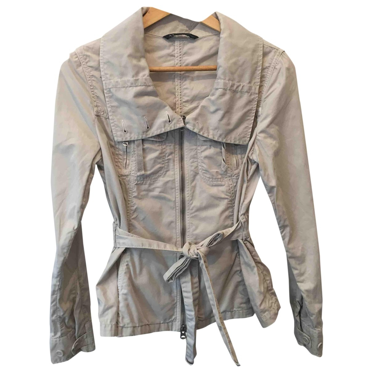 Emporio Armani \N Beige Cotton Trench coat for Women 36 FR