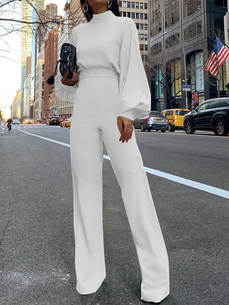 Ericdress Fashion Plain Full Length Slim Jumpsuit