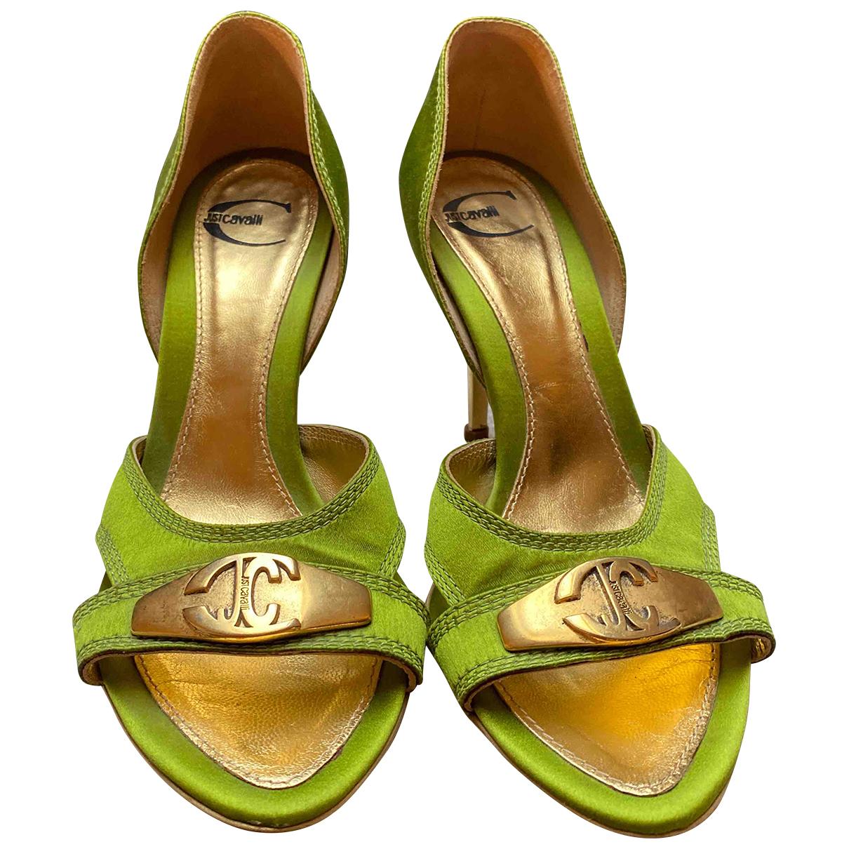 Just Cavalli \N Green Cloth Sandals for Women 37 EU