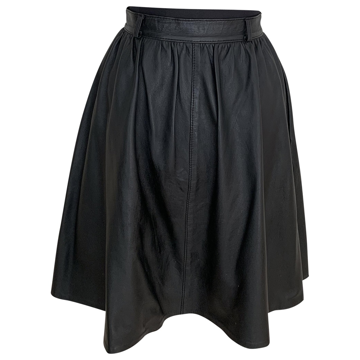 Non Signé / Unsigned \N Black Leather skirt for Women S International