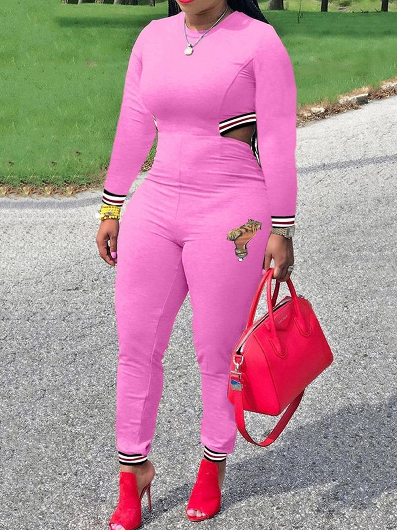 Ericdress Full Length Casual Skinny Mid Waist Jumpsuit
