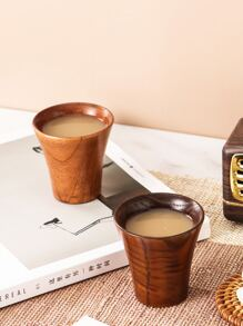 1pc Wooden Tea Cup