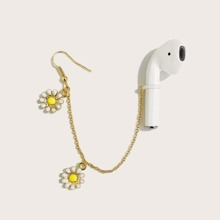 1pc Flower Charm Bluetooth Headset Anti-lost Earring