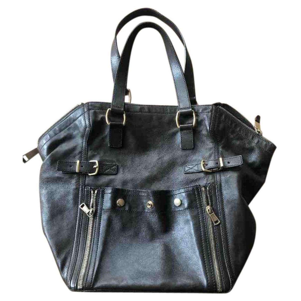 Yves Saint Laurent Downtown Handtasche in  Braun Leder