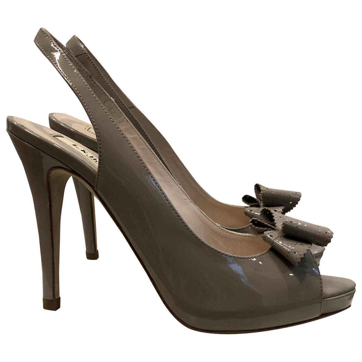 Lk Bennett \N Grey Leather Heels for Women 37.5 EU