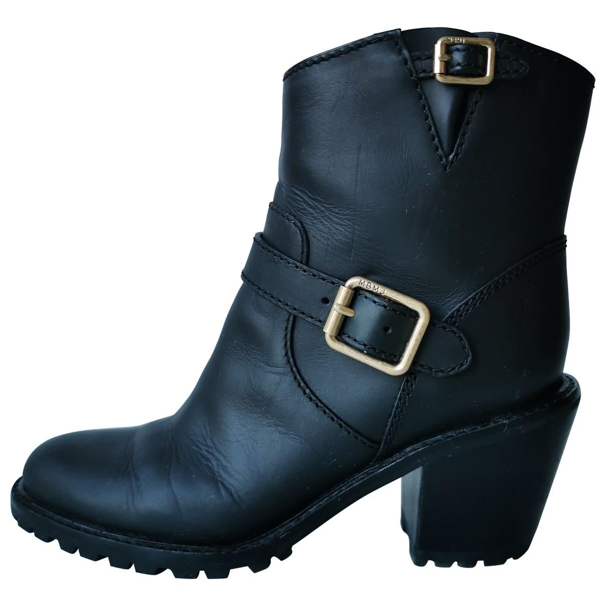 Marc By Marc Jacobs - Boots   pour femme en cuir - noir