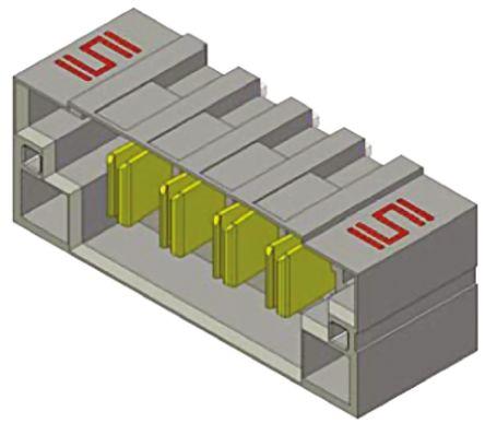 Samtec , MPT Power Strip, 8 Way, 1 Row, Right Angle PCB Header