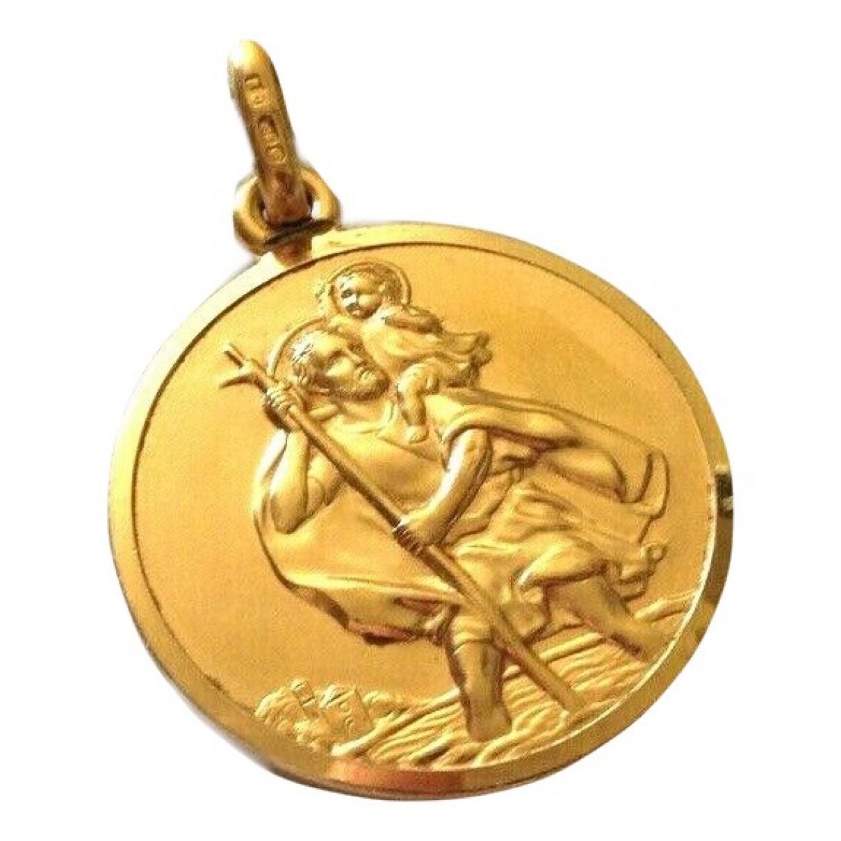 - Pendentif Medailles pour femme en metal - dore