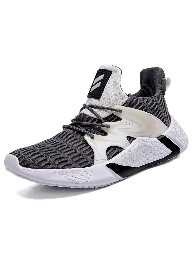 Men Mesh Fabric Breathable Sport Casual Luminous Running Shoes