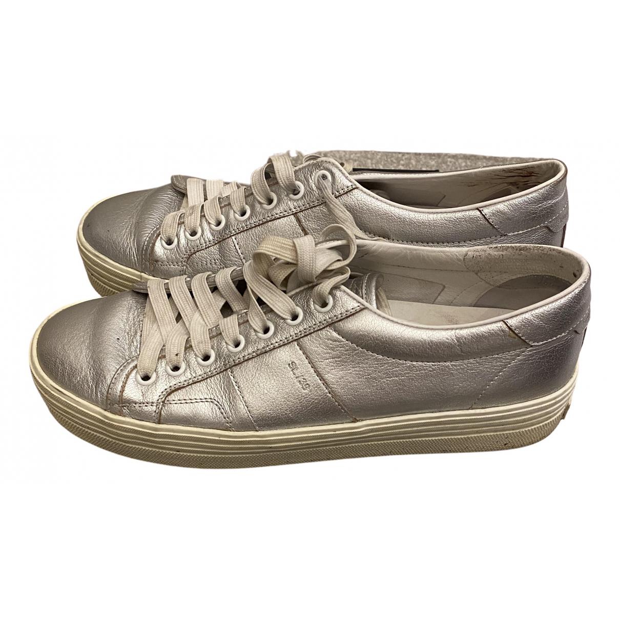 Saint Laurent \N Sneakers in  Metallic Leder