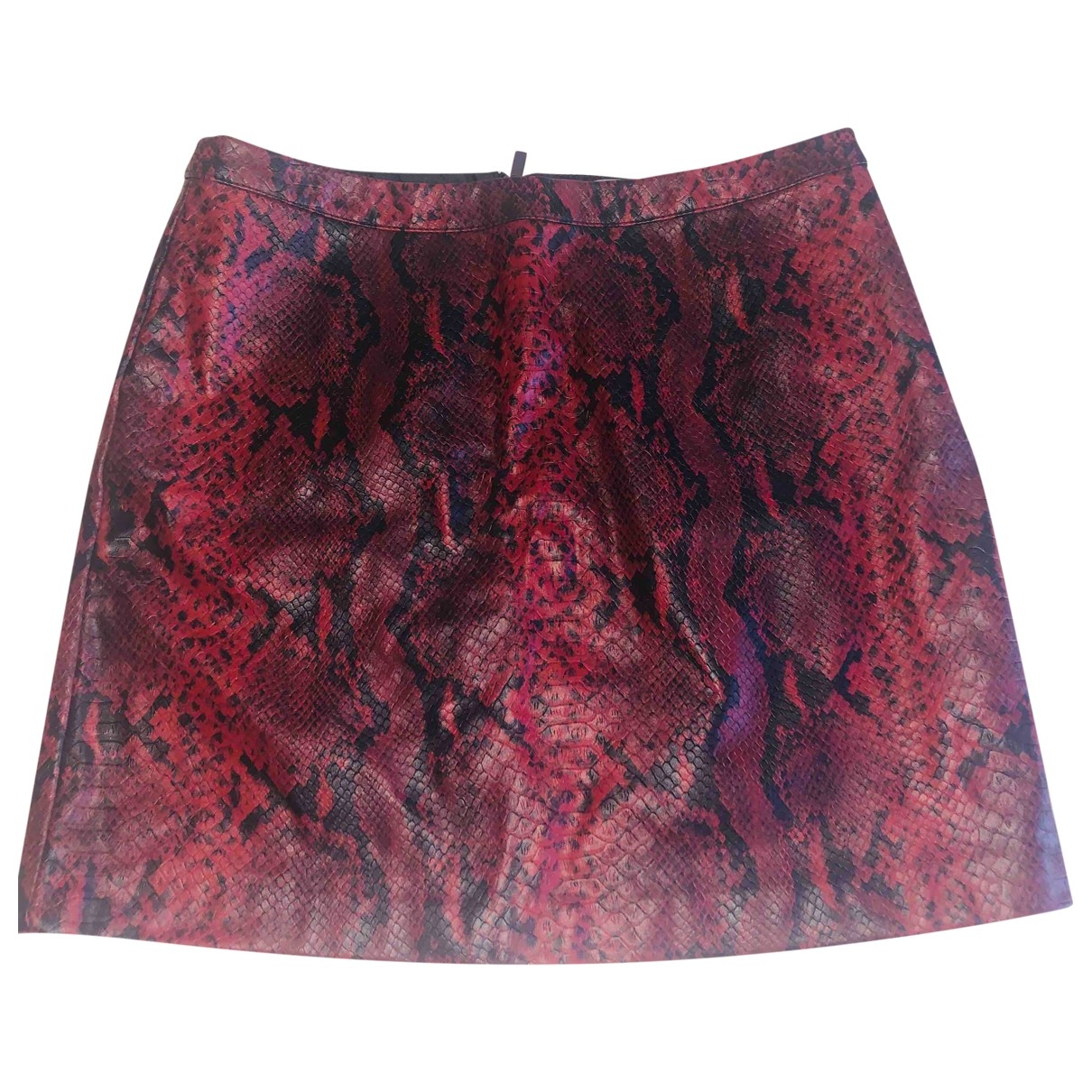 Non Signé / Unsigned \N Red Leather skirt for Women 10 UK