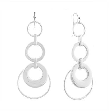 Liz Claiborne Metals 1 Pair Drop Earrings, One Size , Silver