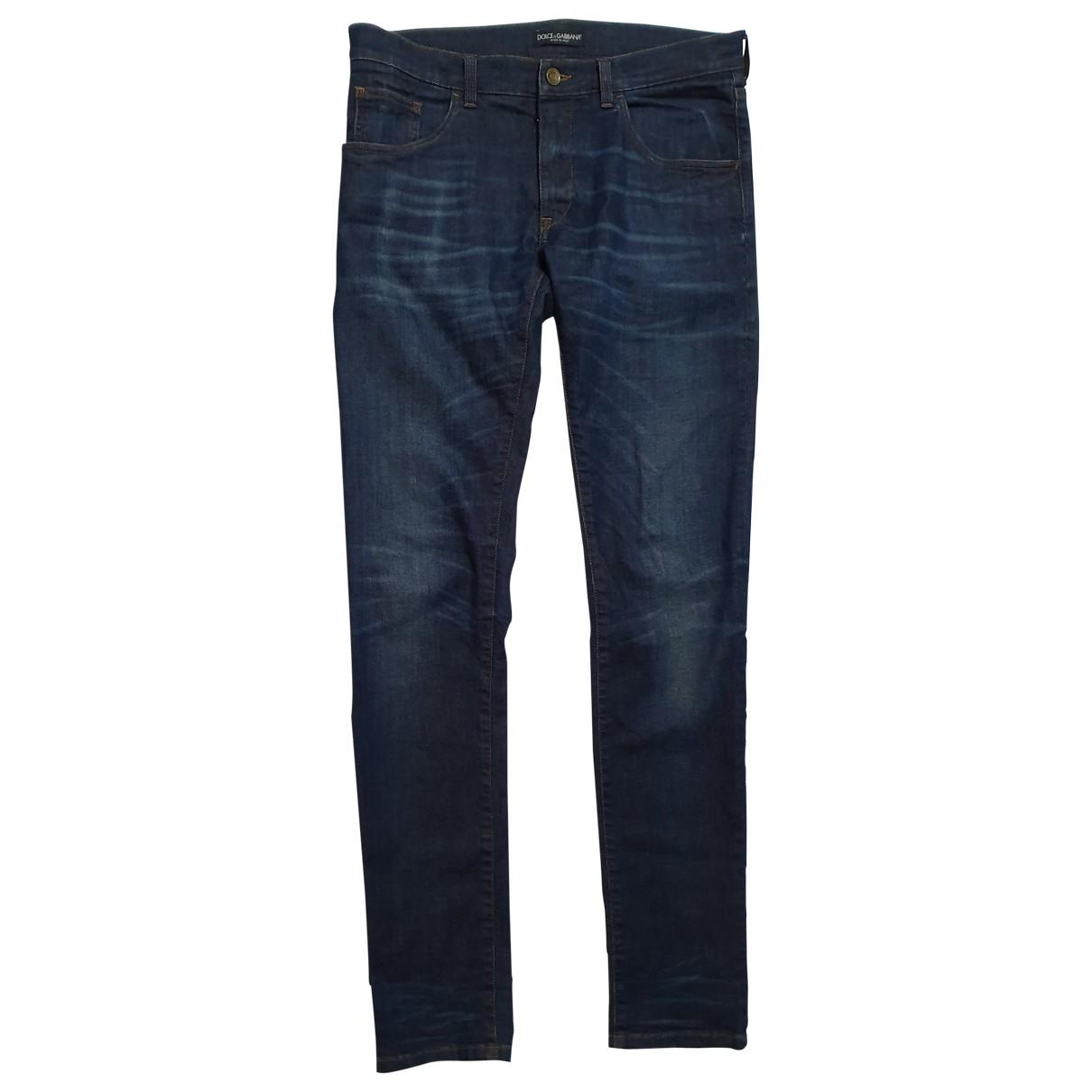 Dolce & Gabbana \N Blue Cotton - elasthane Jeans for Men 32 US