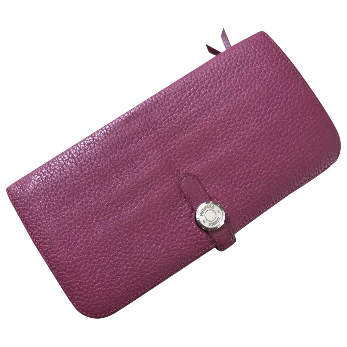 Hermès Dogon Pink Leather wallet for Women \N
