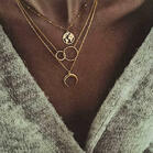 Multi-Layered Moon Map Necklaces
