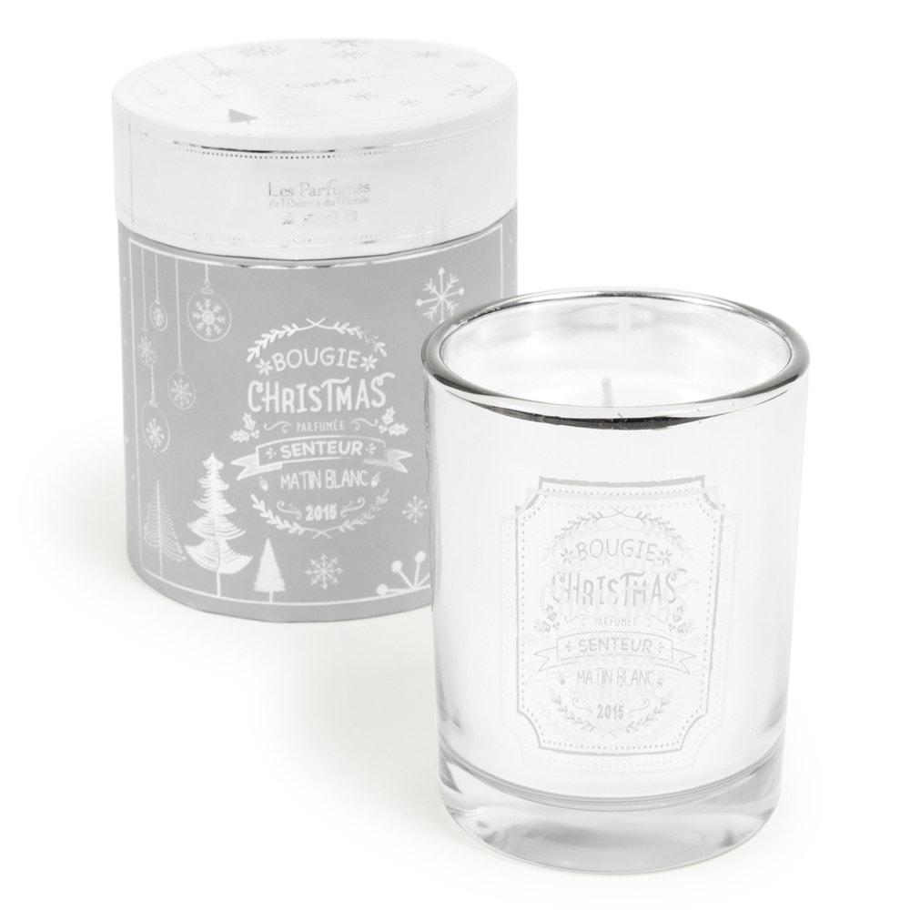 Set weihnachtliche Duftkerze im Glas mit Spiegeleffekt
