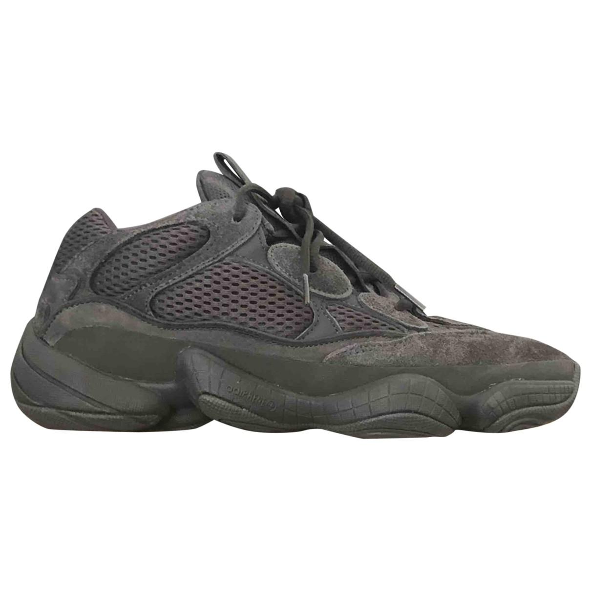 Yeezy X Adidas - Baskets 500 pour homme en suede - noir