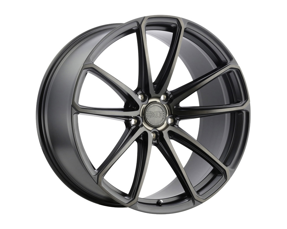 XO Luxury Madrid Wheel 20x10.5 5x120 38mm Matte Black w/ Milled Spoke & Brushed Tinted Face