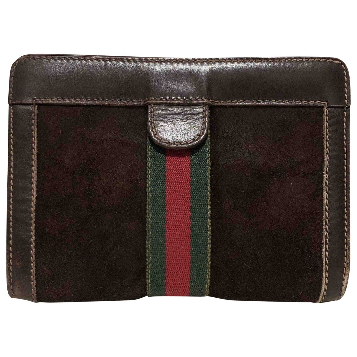 Gucci \N Brown Suede Clutch bag for Women \N