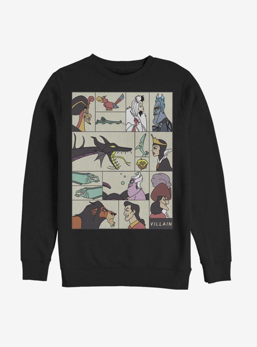 Disney Villains Boxes Of Profiles Sweatshirt