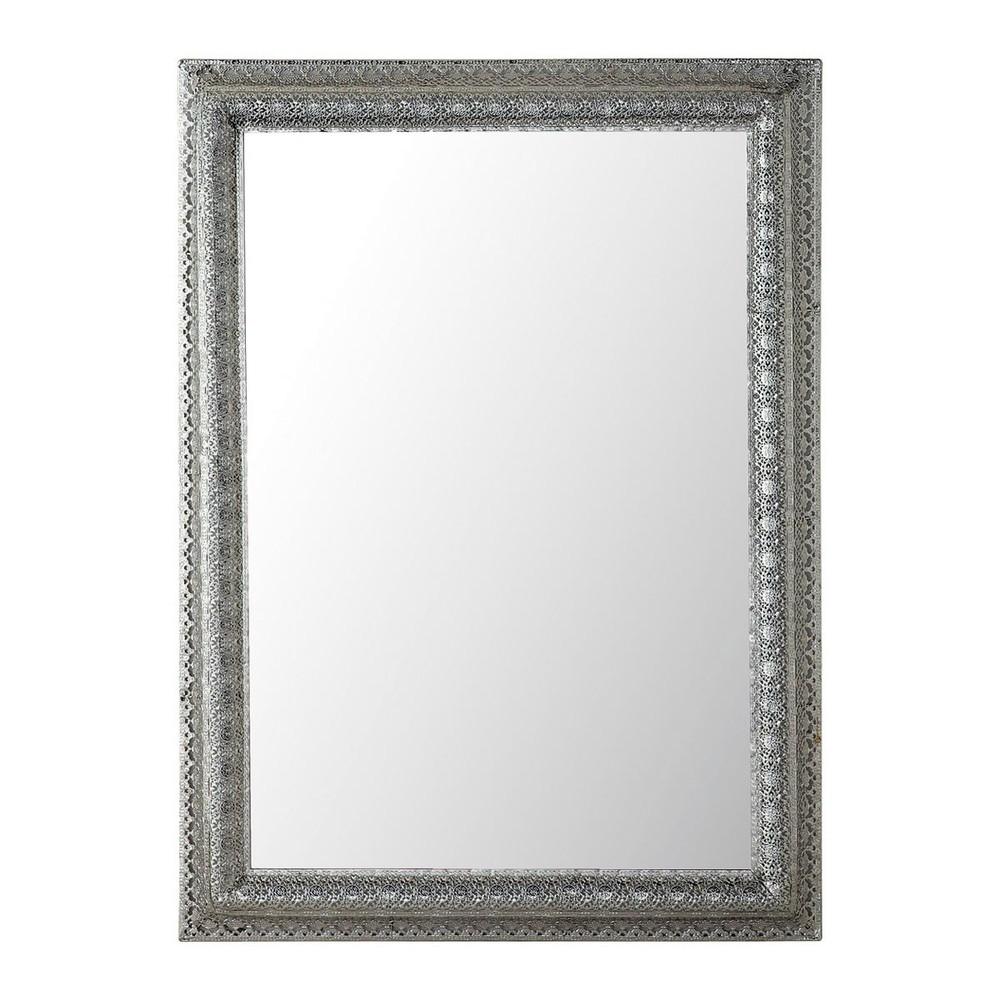Spiegel ISTANBUL aus Metall, H95, silbern