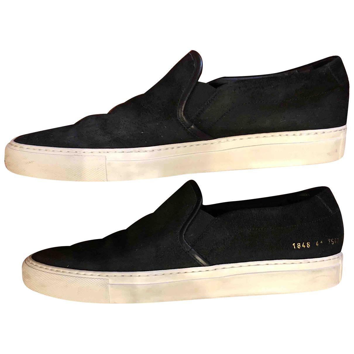 Common Projects \N Sneakers in  Schwarz Veloursleder