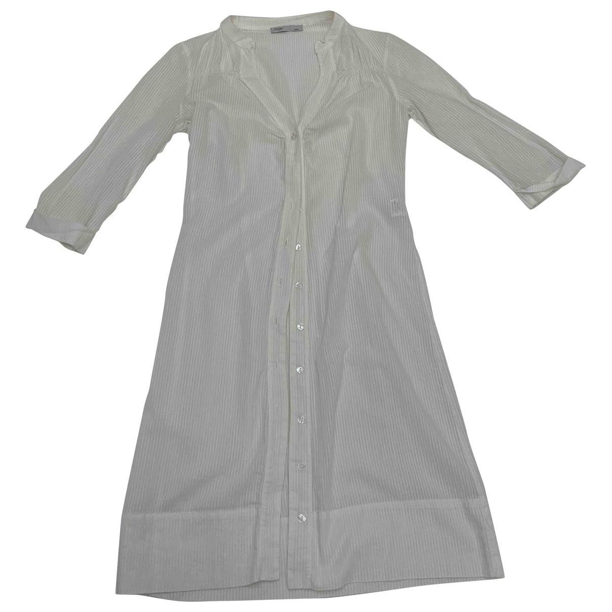Maje \N Beige Cotton dress for Women 36 FR