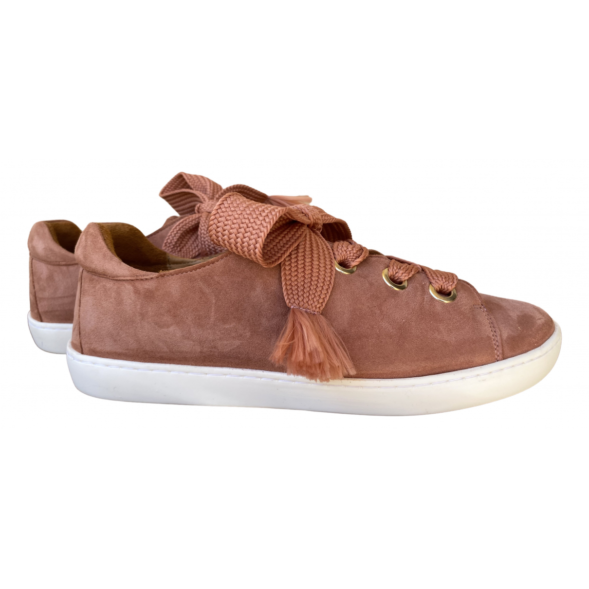 Sézane Spring Summer 2020 Pink Leather Trainers for Women 41 EU