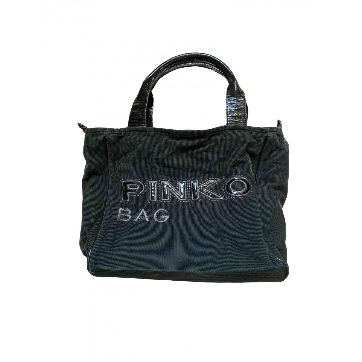 Pinko \N Handtasche in  Gruen Samt