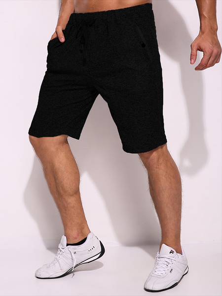 Yoins Men Cotton Pocket Drawstring Elastic Waist Short