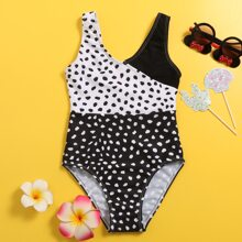 Girls Dalmatian One Piece Swimsuit