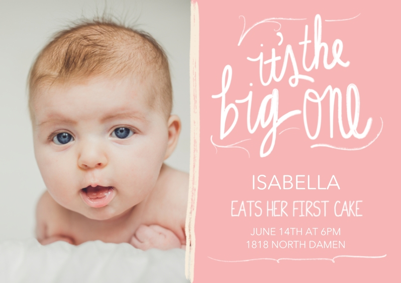 1st Birthday Invitations 5x7 Cards, Premium Cardstock 120lb with Elegant Corners, Card & Stationery -It's the Big One