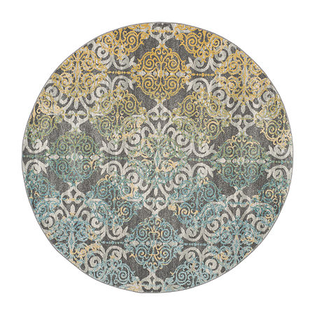 Safavieh Catriona Damask Round Rugs, One Size , Multiple Colors