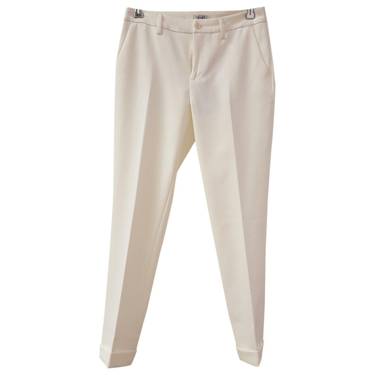 Liu.jo \N White Trousers for Women 40 IT