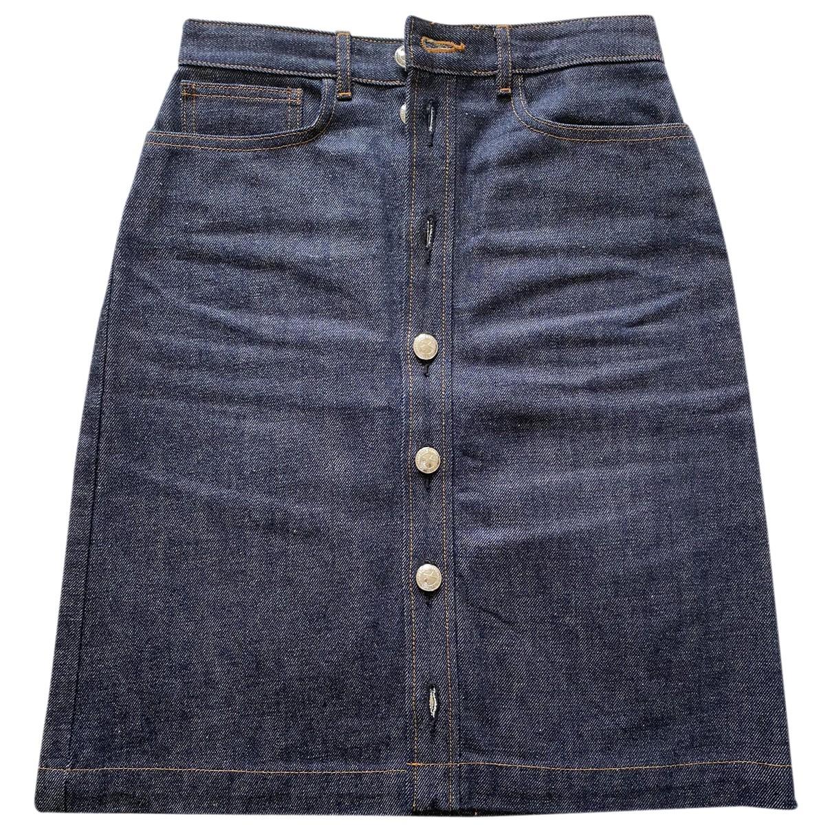 Apc \N Navy Cotton skirt for Women 34 FR