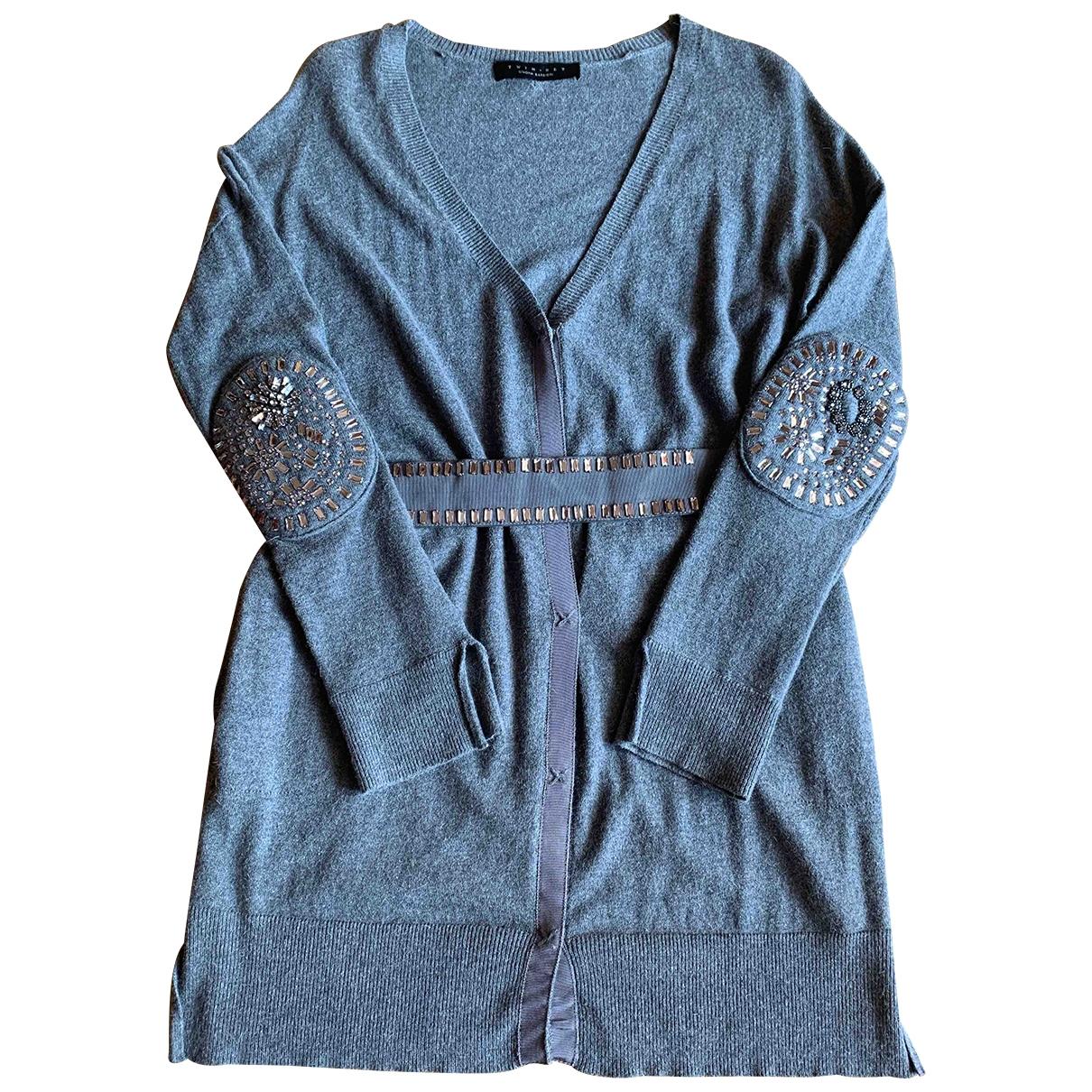 Twin Set - Pull   pour femme en laine - gris