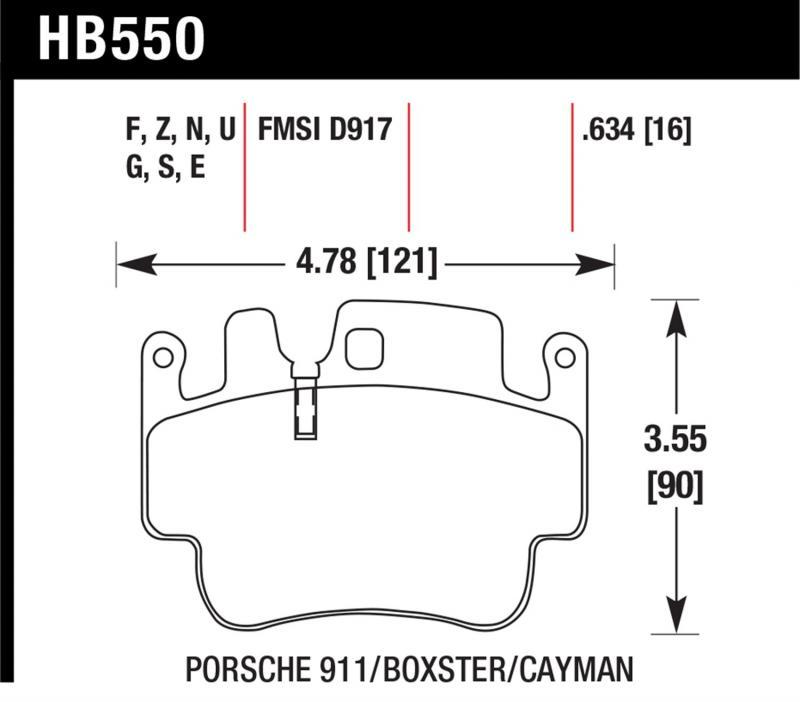 Hawk Performance HB550Z.634 Disc Brake Pad