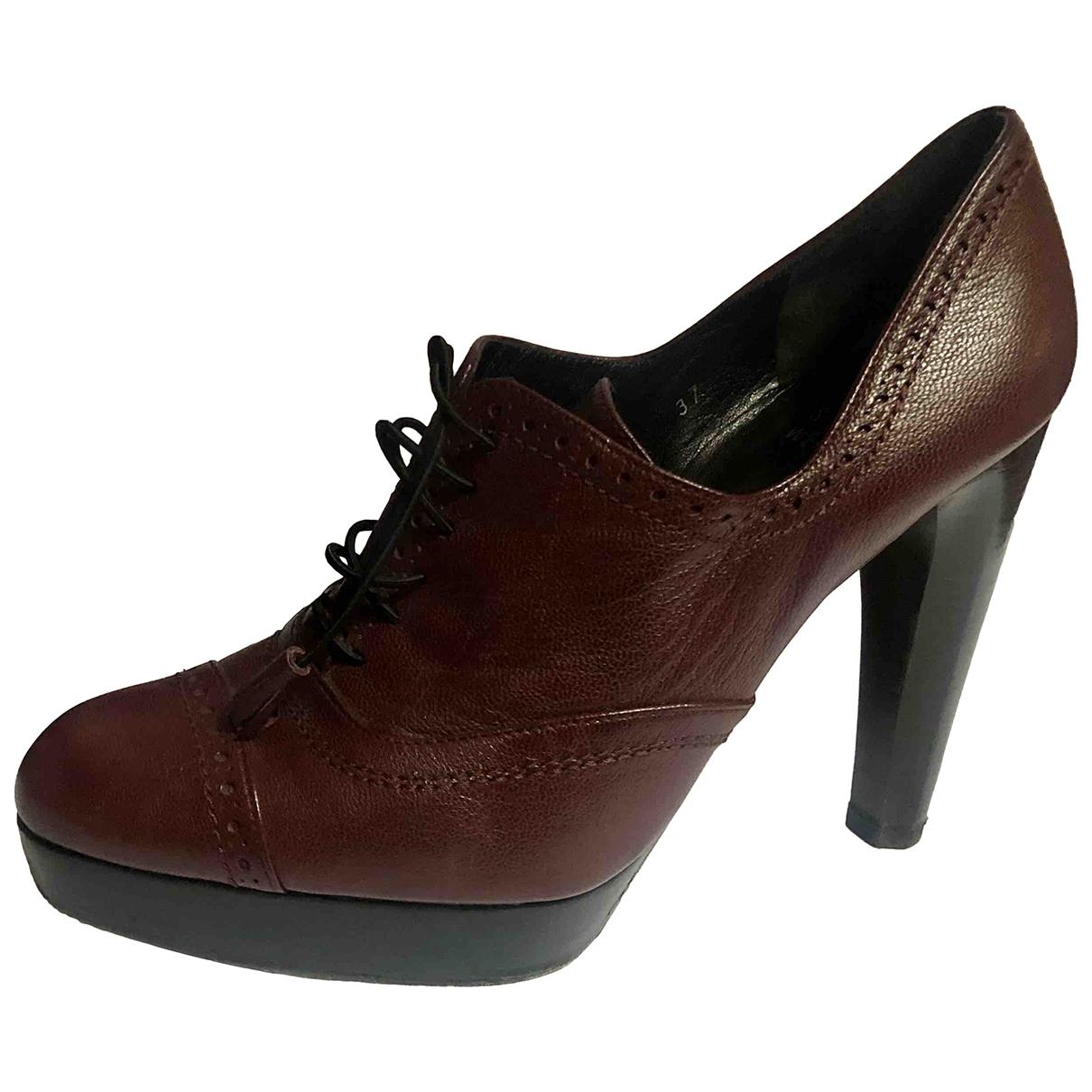 Stuart Weitzman \N Burgundy Leather Ankle boots for Women 37 EU