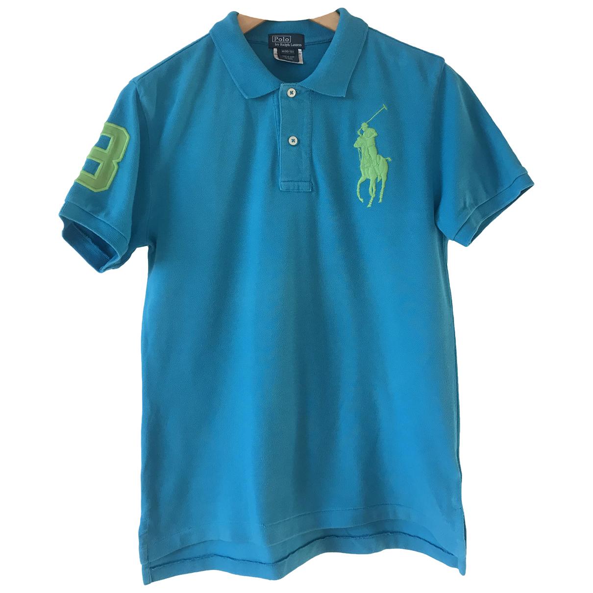 Polo Ralph Lauren - Top   pour enfant en coton - turquoise