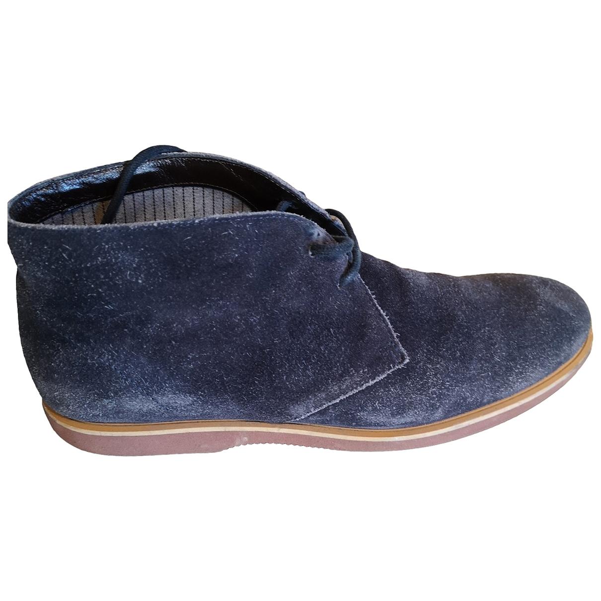 Hogan \N Stiefel in  Blau Veloursleder