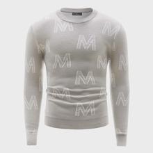 Men Letter Pattern Sweater