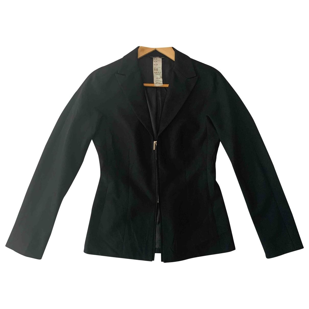 Gianni Versace \N Jacke in  Schwarz Wolle
