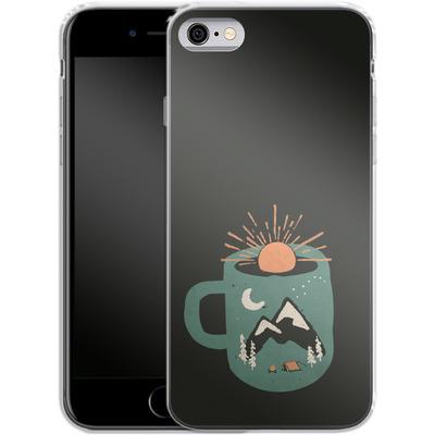 Apple iPhone 6 Silikon Handyhuelle - Mountain Morning Wakeup von ND Tank
