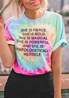 Tie Dye She Is Fierce T-Shirt Tee